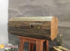 Mẫu rương gỗ sồi để đồ đơn giản RG91