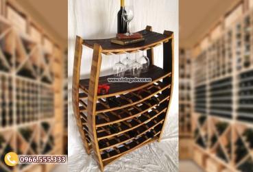 Mẫu kệ rượu trang trí đẹp KR63