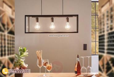 Mẫu đèn trang trí phòng khách trần gỗ DG101