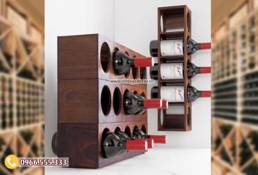Mẫu kệ tủ rượu hiện đại đặt phòng khách TBR191