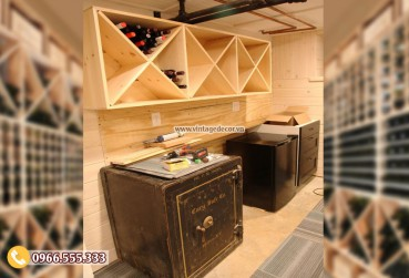 Mẫu kệ tủ rượugỗ tự nhiên TBR192
