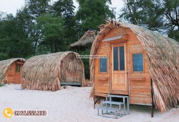 Mẫu thiết kế nhà bằng gỗ phong cách cổ điển NB85