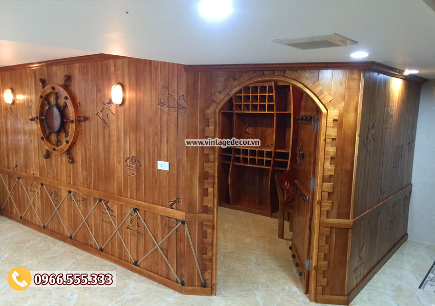 Thiết kế và thi công hầm rượu vang gia đình - Vintage Decor