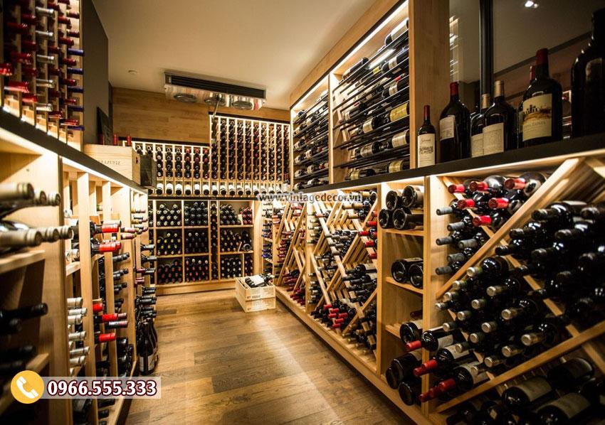 Mẫu thiết kế hầm rượu vang cổ điển HR55