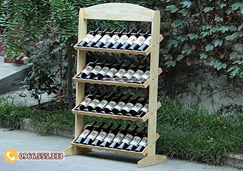 Mẫu kệ trưng bày rượu nhỏ TBR24