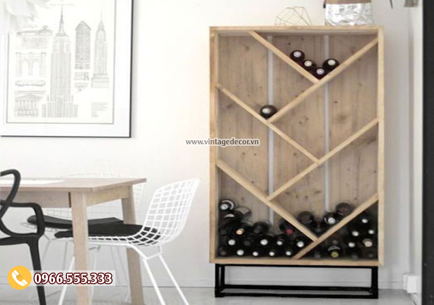 Mẫu tủ rượu đứng phòng khách đẹp TBR28