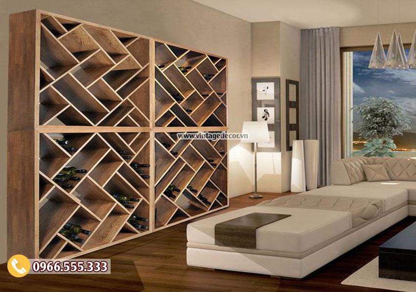 Mẫu tủ rượu trang trí phòng khách đẹp TBR29
