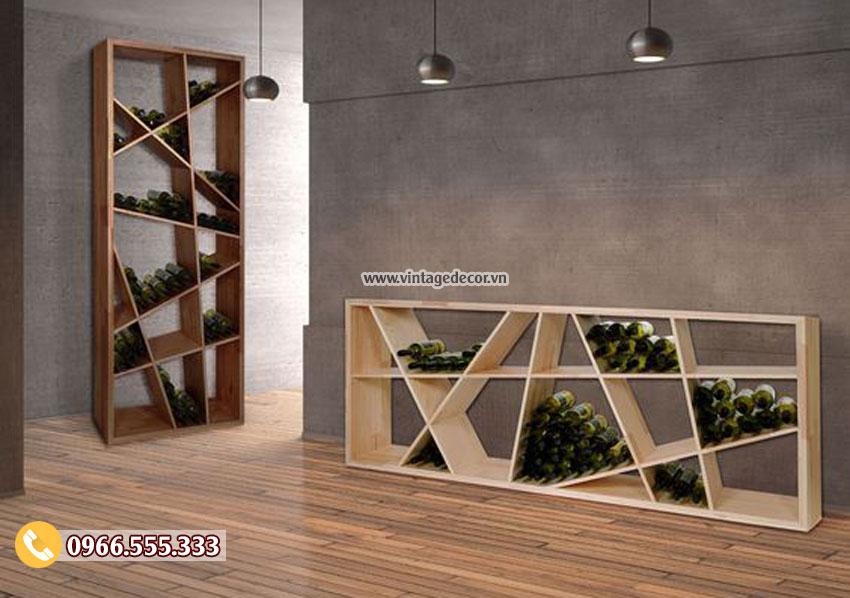 Mẫu tủ rượu gia đình trang trí đẹp TBR30