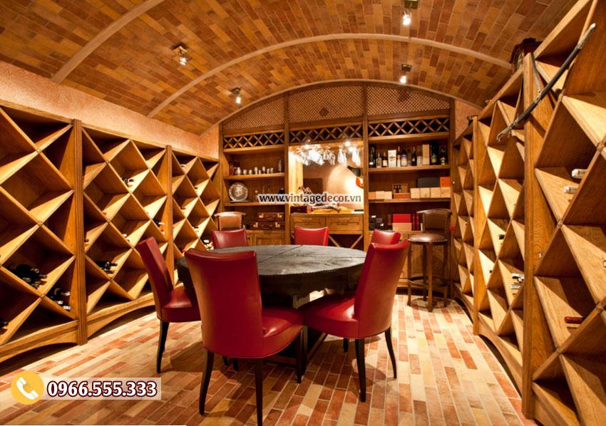 Mẫu thiết kế hầm rượu vang đẹp HR26