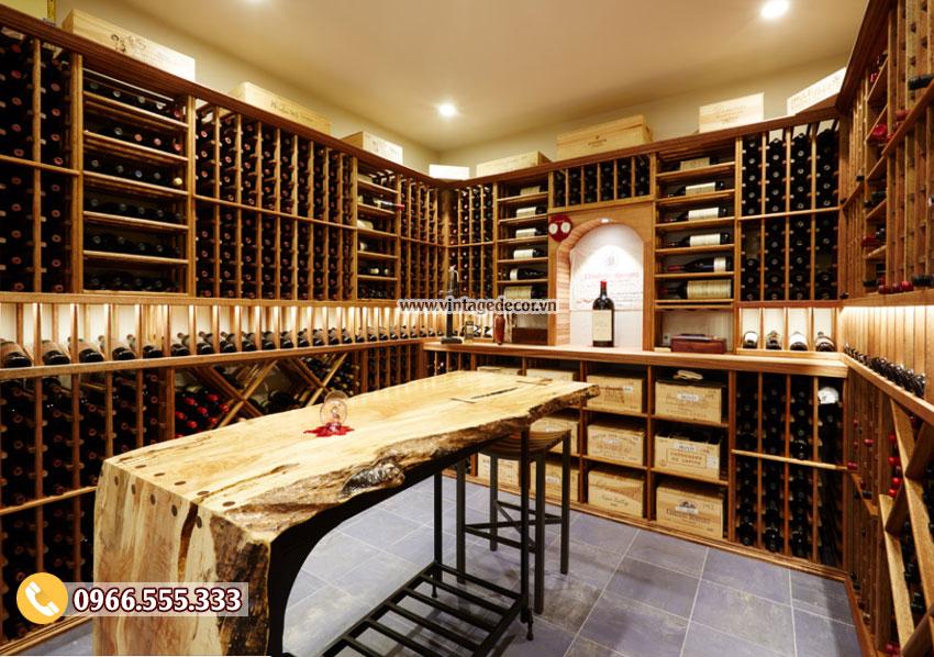 Mẫu thiết kế hầm rượu vang cổ điển HR27