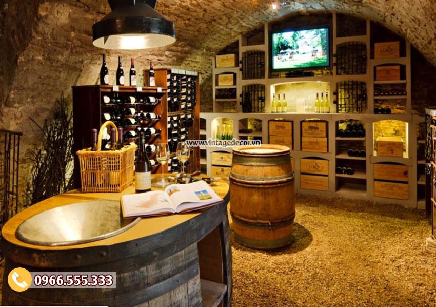 Mẫu thiết kế hầm rượu vang HR34