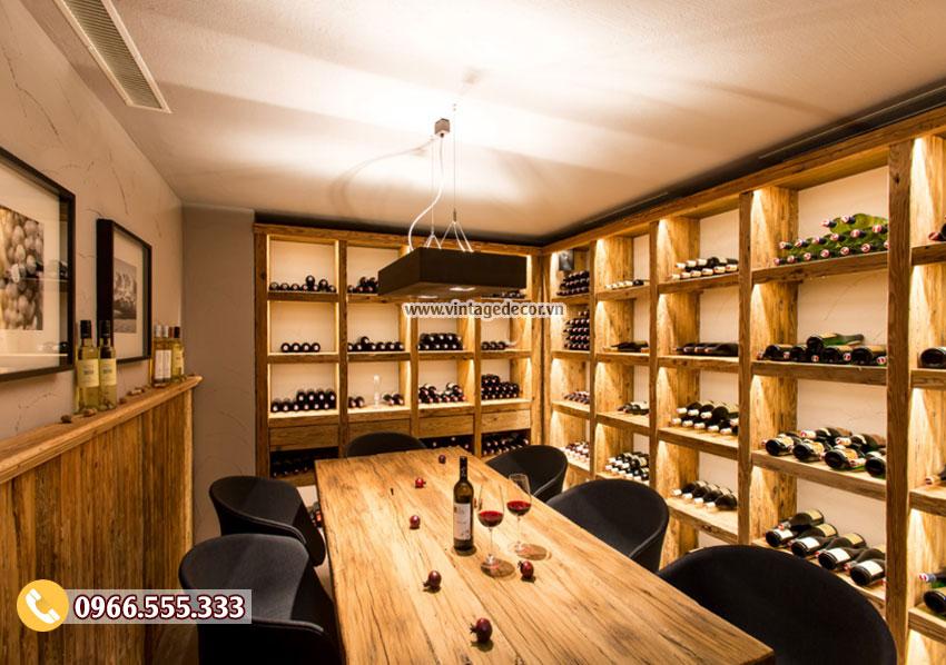 Mẫu thiết kế hầm rượu vang gia đình HR38