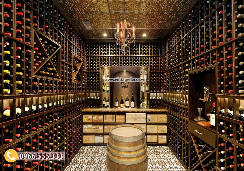 Mẫu thiết kế hầm rượu trong nhà đẹp HR40