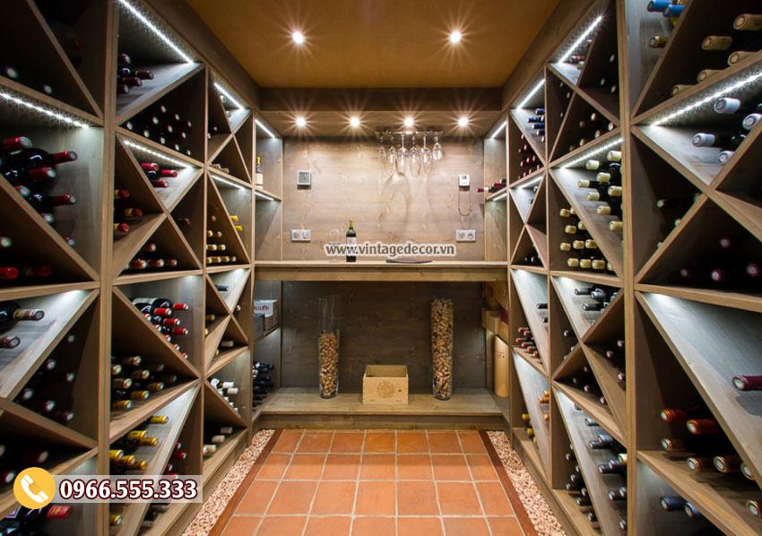 Mẫu thiết kế hầm rượu hiện đại HR42