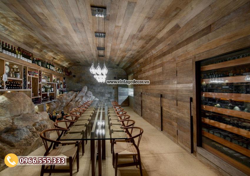 Mẫu thiết kế hầm rượu dưới lòng đất HR47