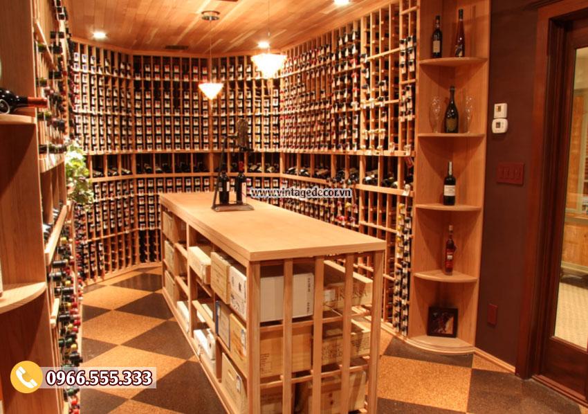 Mẫu thiết kế hầm rượu vang đẹp HR48