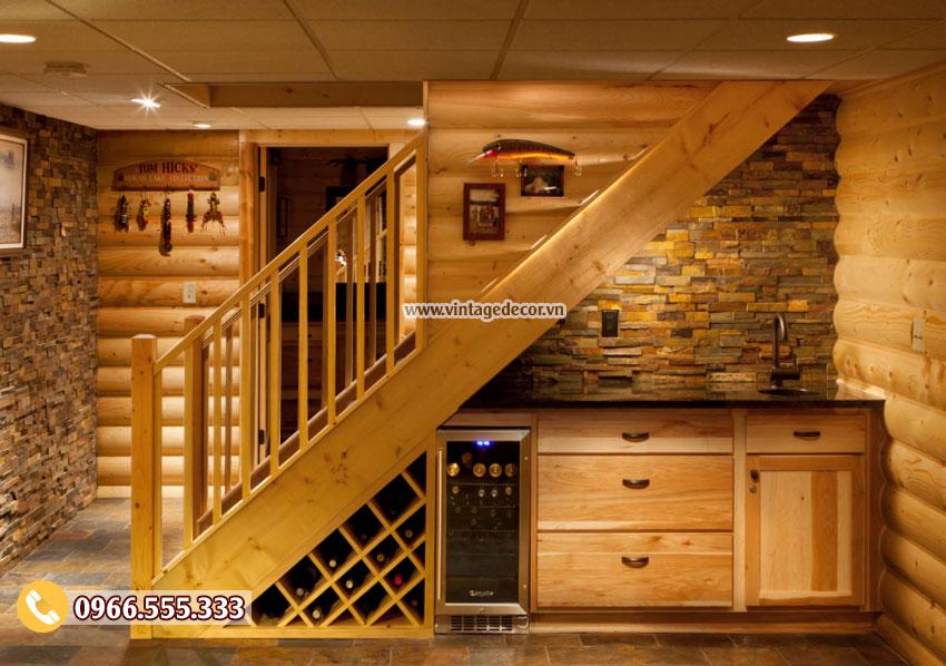 Mẫu thiết kế hầm rượu vang đẹp HR23