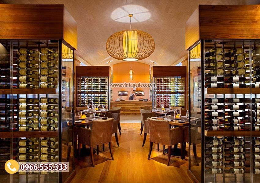 Mẫu thiết kế nhà hàng rượu vang đẳng cấp BR09