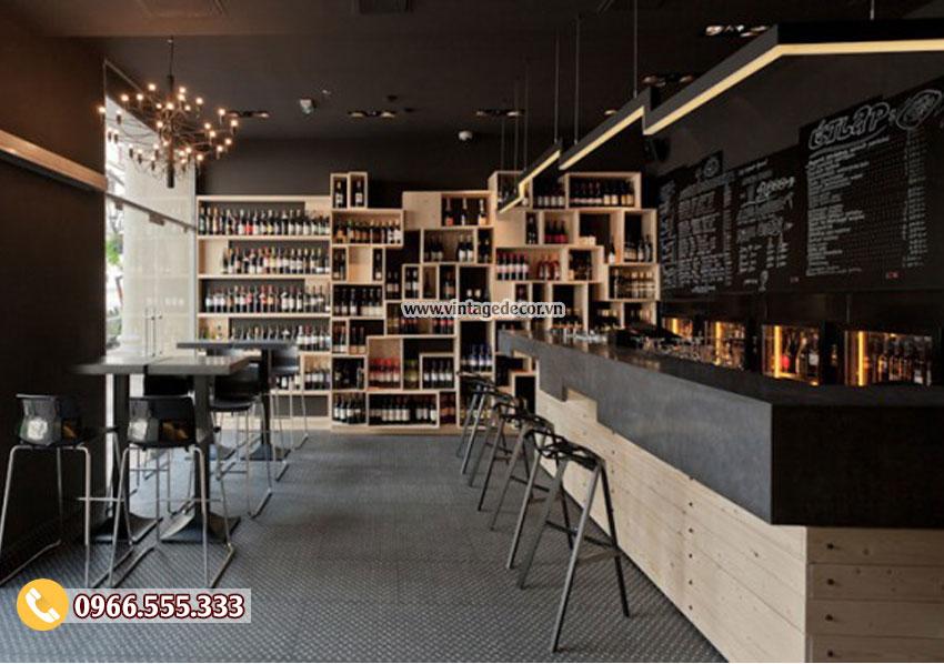 Mẫu thiết kế bar rượu vang phong cách châu âu BR10