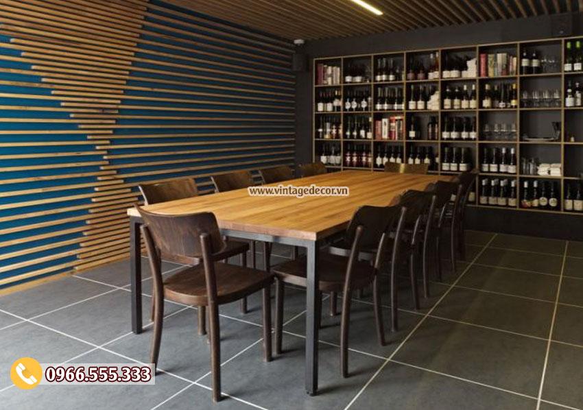 Mẫu thiết kế nhà hàng rượu vang vintage BR12