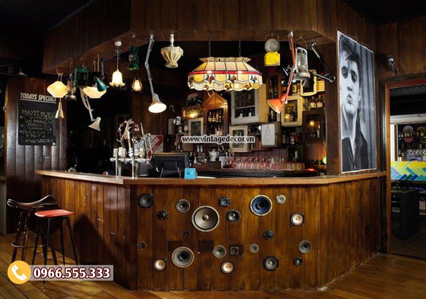 Mẫu thiết kế bar rượu vang sang trọng BR03