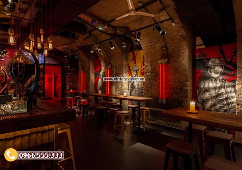 Mẫu thiết kế nhà hàng rượu vang cổ điển BR04