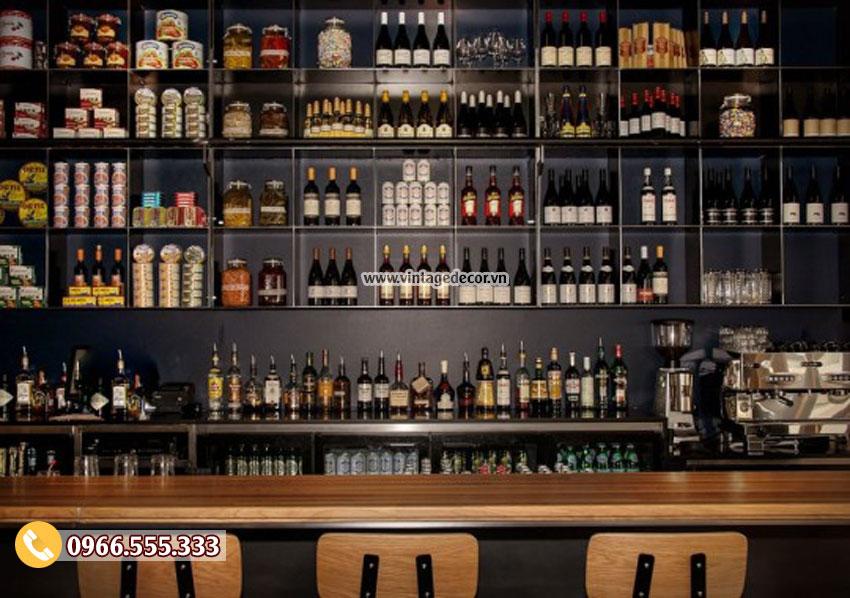 Mẫu thiết kế bar rượu vang đẹp BR05