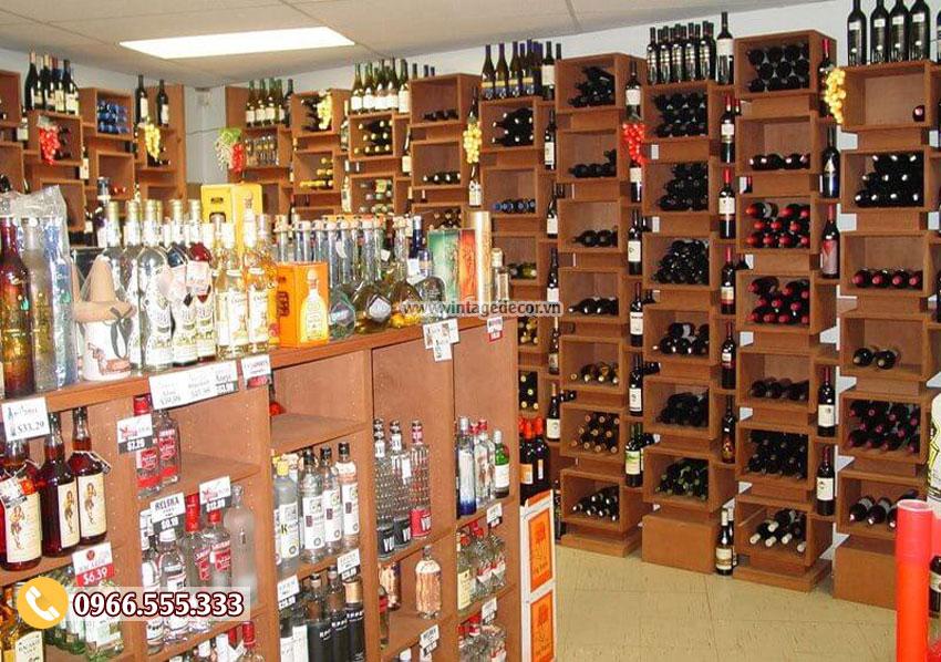 Mẫu thiết kế cửa hàng trưng bày rượu vang CHR02