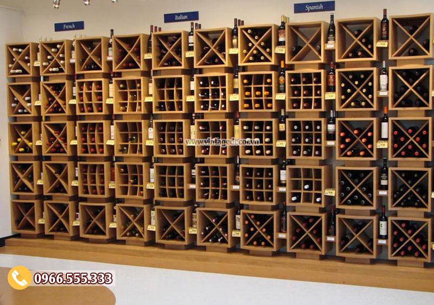 Mẫu thiết kế cửa hàng rượu vang hiện đại đẹp CHR11