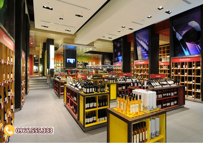 Mẫu thiết kế showroom rượu vang sang trọng CHR15