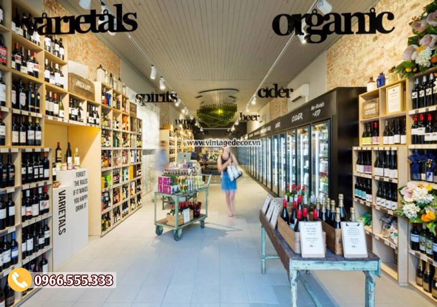 Mẫu thiết kế cửa hàng rượu vang hiện đại đẹp CHR16