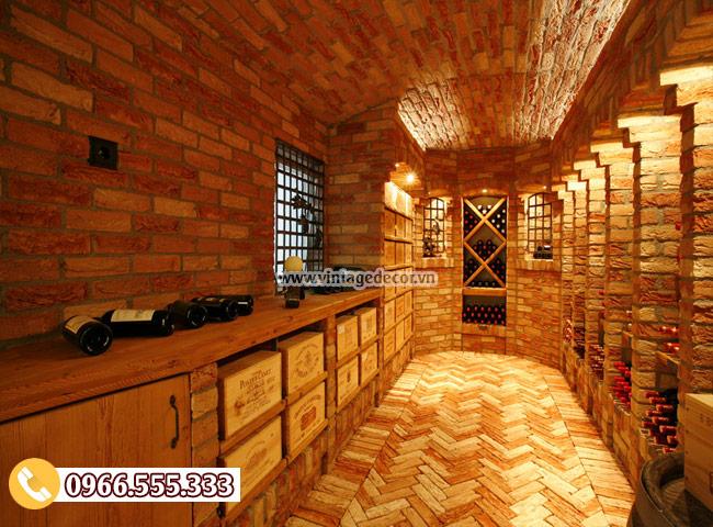 Mẫu thiết kế hầm rượu cổ điển đẹp HR02