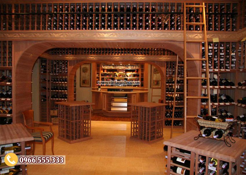 Mẫu thiết kế hầm rượu đẹp HR05