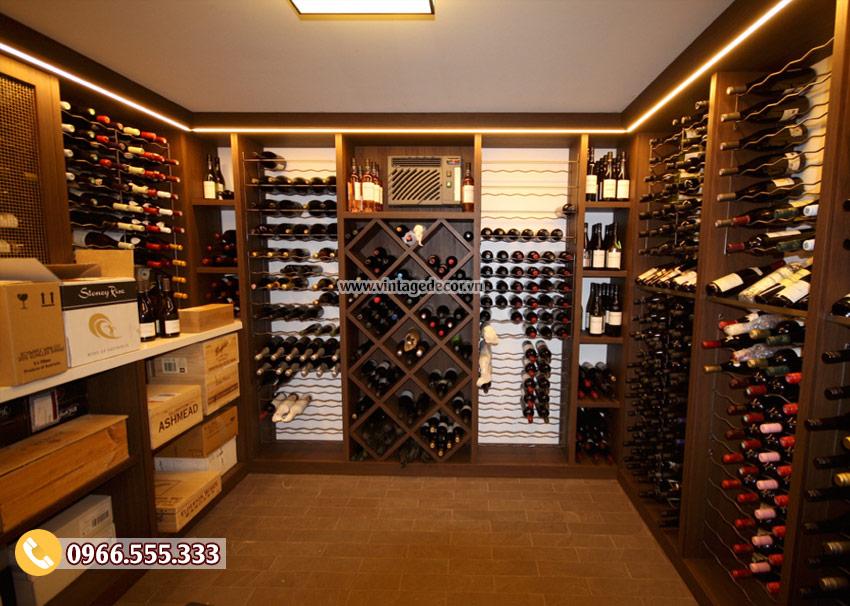 Mẫu thiết kế hầm rượu đẹp HR06