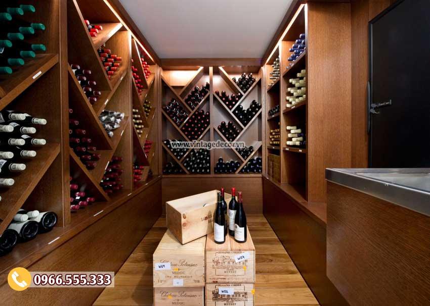 Mẫu thiết kế hầm rượu trong nhà đẹp HR08