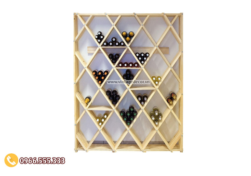Mẫu kệ trưng bày rượu vang tại nhà đẹp TBR08