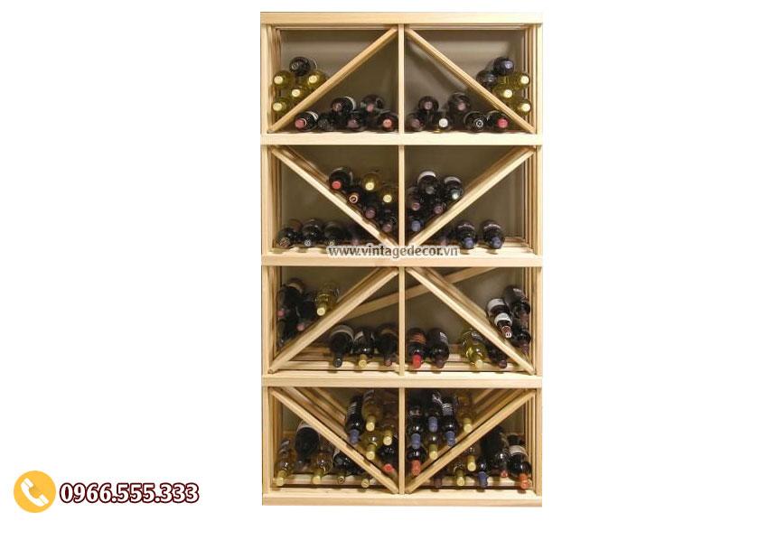 Mẫu kệ trưng bày rượu vang đẹp TBR11