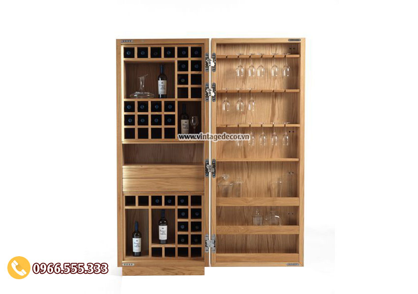 Mẫu tủ rượu vang gỗ thông mới TBR13
