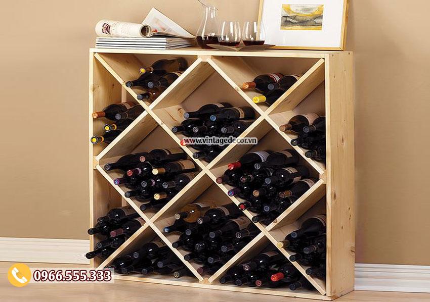 Mẫu kệ rượu vang tùy chỉnh đẹp TBR14