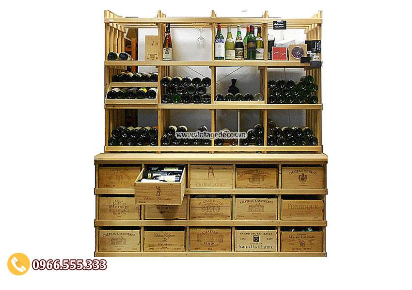 Mẫu tủ trưng bày rượu vang tiêu chuẩn TBR15