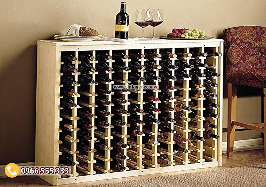 Mẫu kệ rượu vang trang trí đẹp TBR17