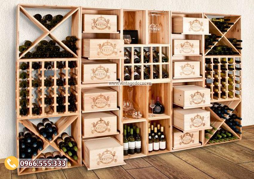 Mẫu tủ rượu vang đẹp sang trọng TBR20
