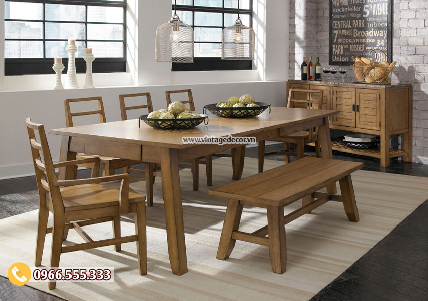 Mẫu bộ bàn ghế cổ điển phòng ăn gia đình BG51