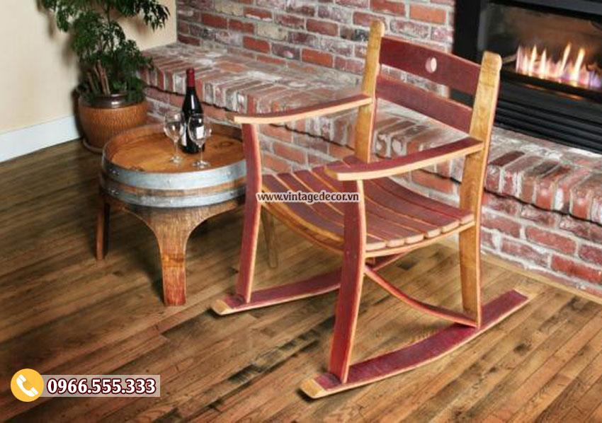 Mẫu bộ bàn ghế thư giãn từ thùng rượu DL18