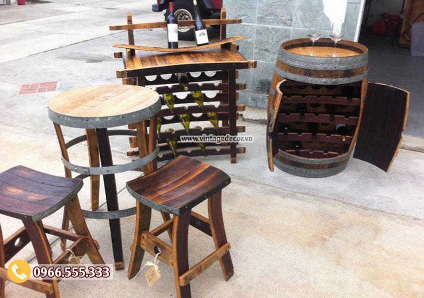 Mẫu nội thất từ thùng rượu DL05
