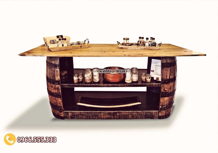 Bàn thùng rượu đẹp BG33