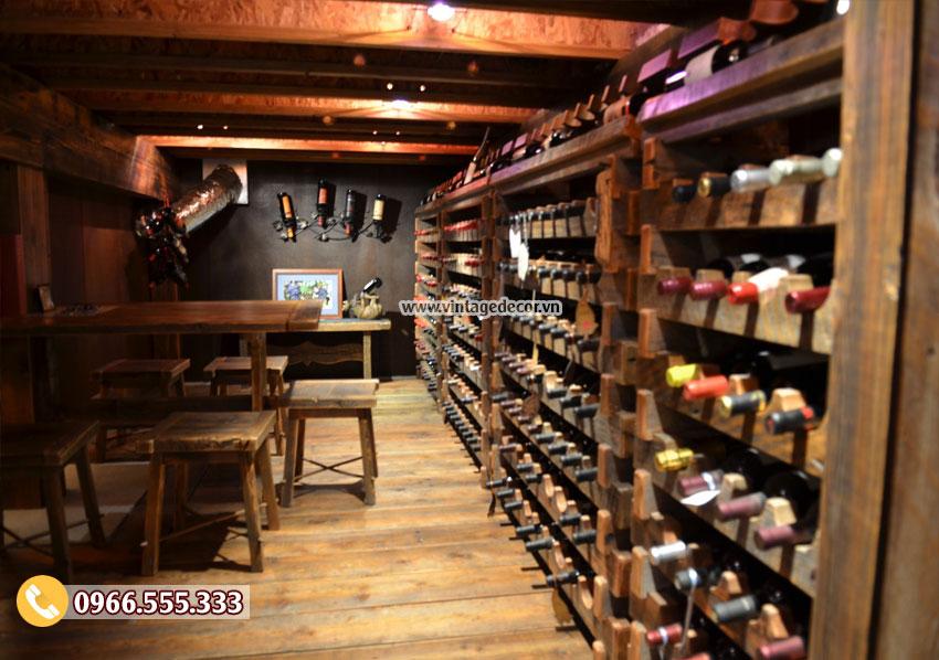 Mẫu hầm rượu vang dưới tầng hầm HR96