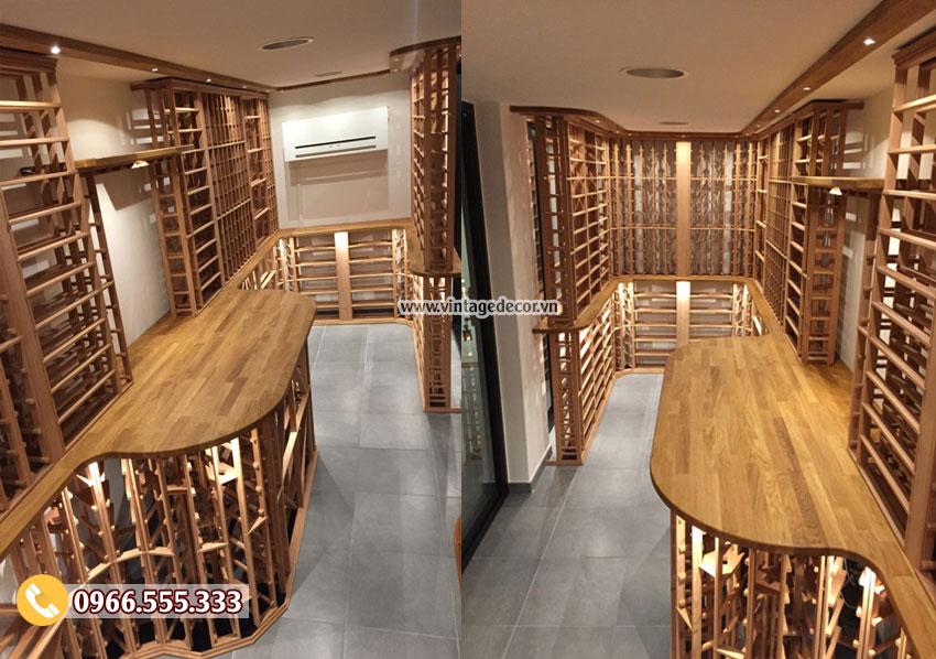 Mẫu thiết kế hầm rượu mini trong nhà HR94