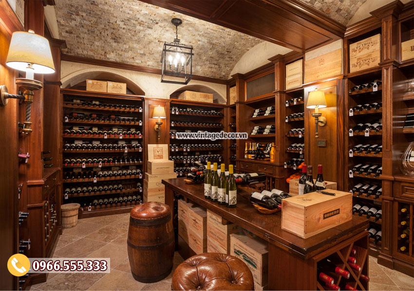 Mẫu thiết kế hầm rượu vang tân cổ điển HR95