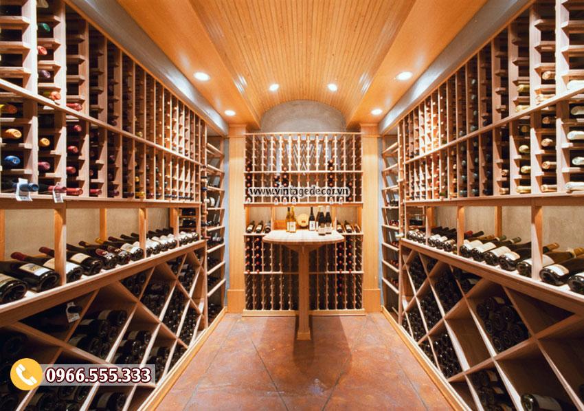 Mẫu thiết kế hầm rượu vang cổ điển HR62